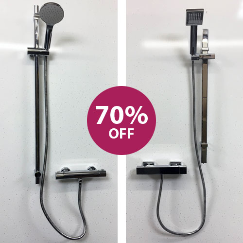 Crosswater Thermostatic round or square shower set rrp: £222.00 now only £110.00 - 20% Now:  £88.00