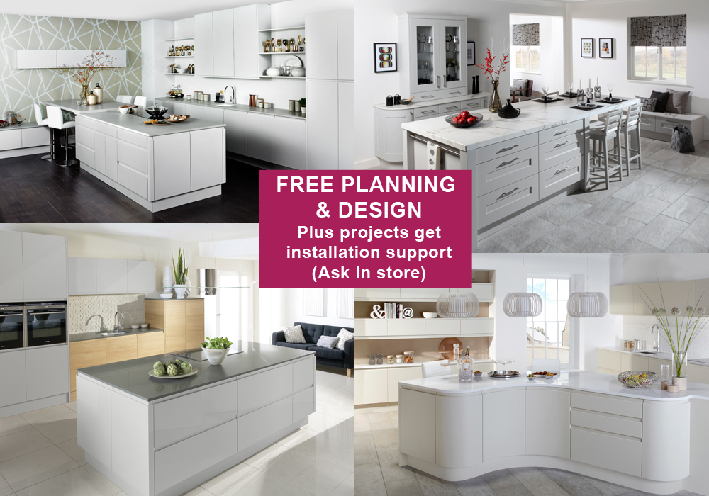 Free Planning and Design Plus projects get installation support (Ask in store)