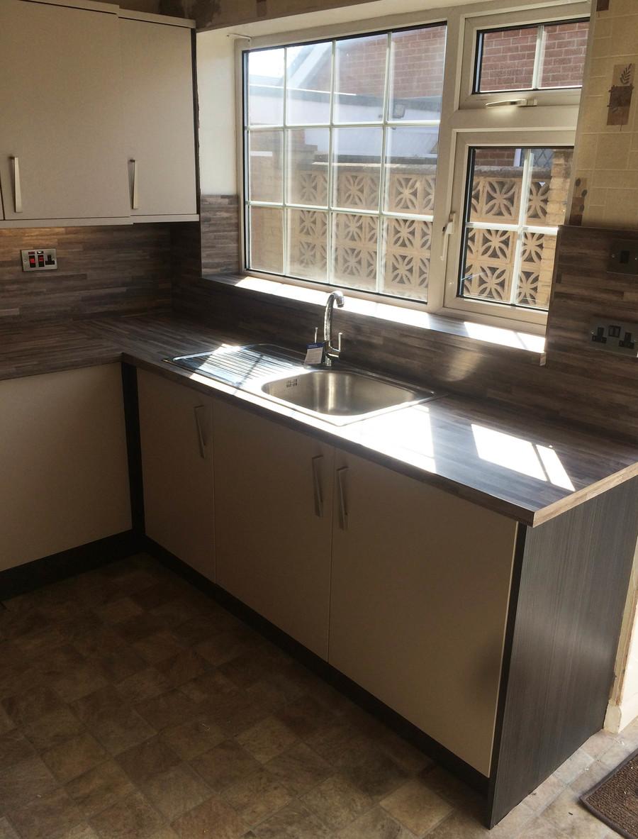 Tecaz bathroom suites - Conoisseur Fresso Beige And Hacienda Black With Malawi Brown Worktops Our Designs Tecaz