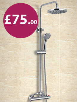 Complete thermostatic dual head shower valve sets