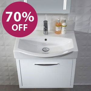 TAVISTOCK WALL HUNG BASIN UNIT RRP: £442.50 OUR PRICE:  £221.25