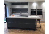 Signature Porter Matt Slate & White with Lagoon Silestone Worktops