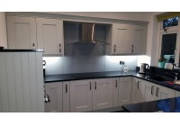 Connoisseur Milbourne Partridge Grey with Negro Stellar Silestone Worktops