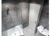 Reflections Showerbath Vanity Suite with Grey Tiles