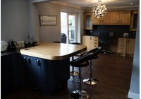 Signature & Charcoal with Black Granite and Oak Worktops
