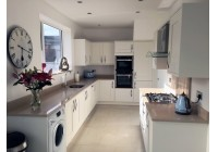 Conoisseur Milbourne Chalk with Creme Stellar Worktops