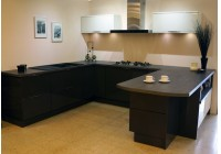 Conoisseur Graphite & Porcelain Lacquered Doors with Tivoli Anthracite Silestone