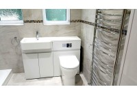 Easy Access Walk-in Suite with White Vanity Set