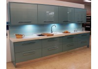 Connoisseur Glacier Metallic Blue & White Sparkle Quartz Granite Worktops