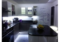 Signature Handleless Cream Doors with Silestone Worktops