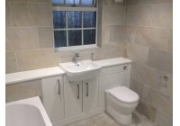 Gems Malaga White Ash Furniture with Lumin8 Shower and Status Bath